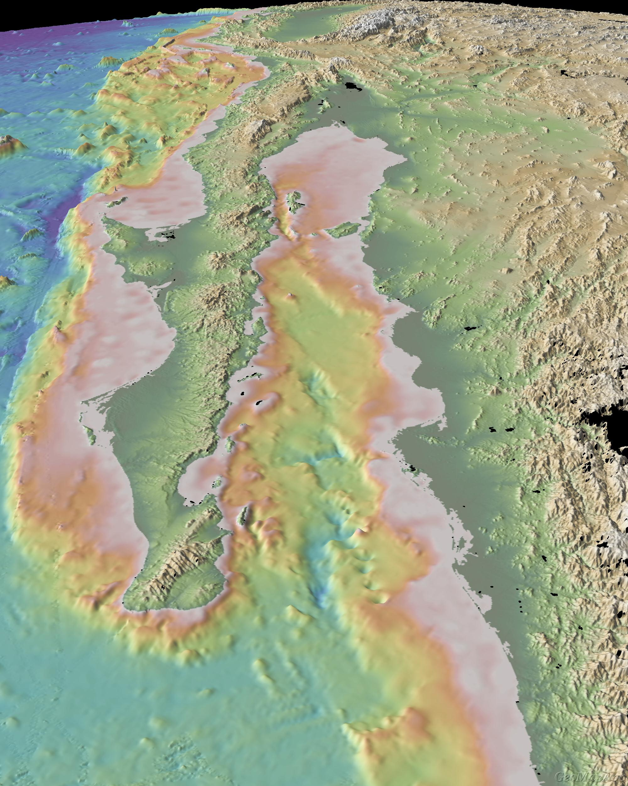Gulf Of California Map.Sea Floor Sunday 16 Gulf Of California Clastic Detritus
