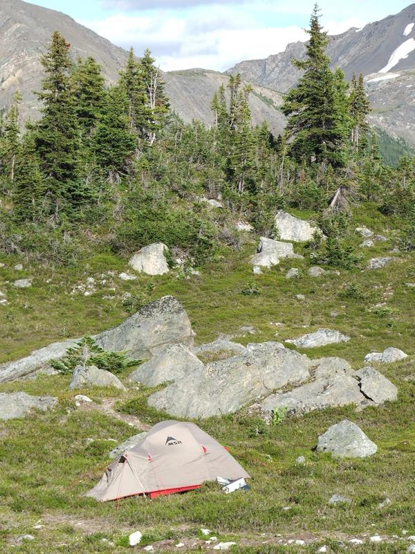 tent at Castle Creek, British Columbia (© 2008 clasticdetritus.com)