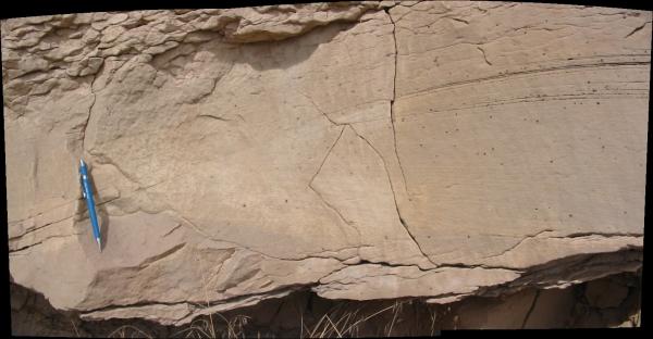 Hummocky cross-stratified sandstone, Cretaceous of western Colorado (© 2008 clasticdetritus.com)