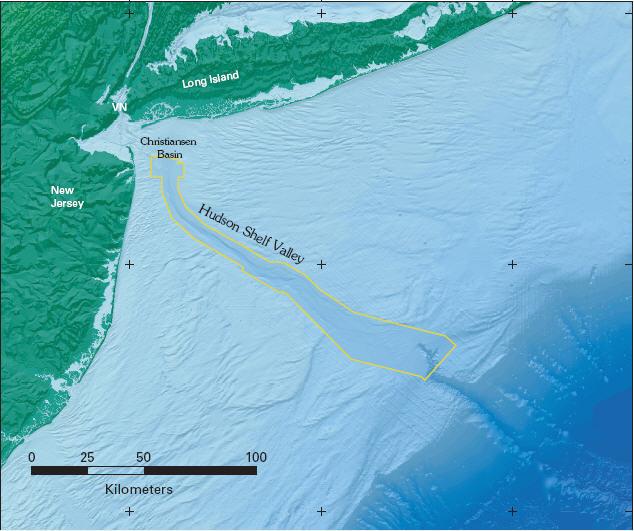 Sea Floor Sunday 28 Bathymetric Map Of Hudson Shelf