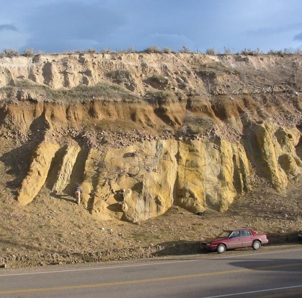 Cretaceous Fox Hills Sandstone, Morrison, Colorado (© 2008 clasticdetritus.com)