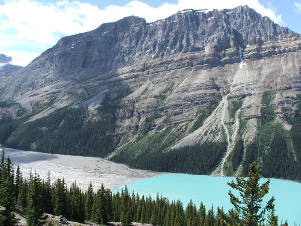 Peyto Lake, Alberta, Canada (© 2008 clasticdetritus.com)