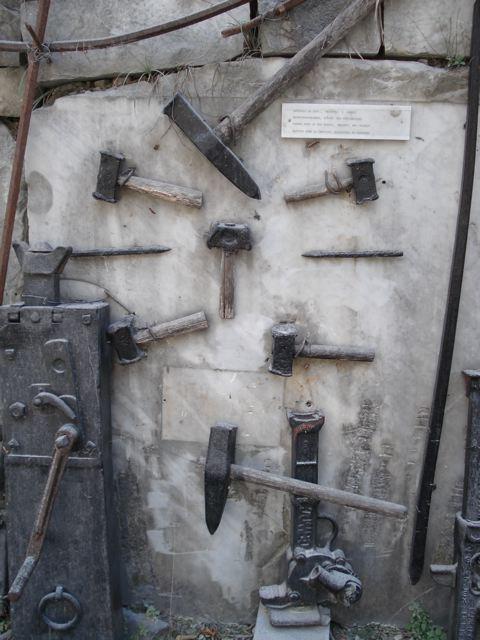 Old tools at marble museum in Carrara, Italy (© David B. Williams)