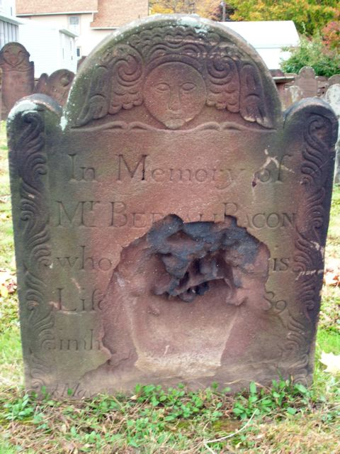Brownstone gravestone from Portland, Connecticut (© David B. Williams)