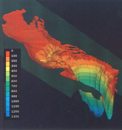 Bathymetry of the Adriatic Sea (credit: http://engineering.dartmouth.edu/adriatic/index.html)
