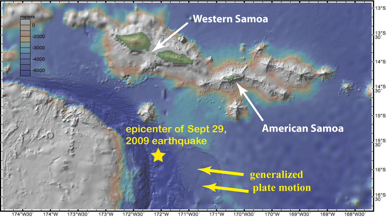 Sea Floor Sunday Samoa Region The South Pacific Clastic Detritus