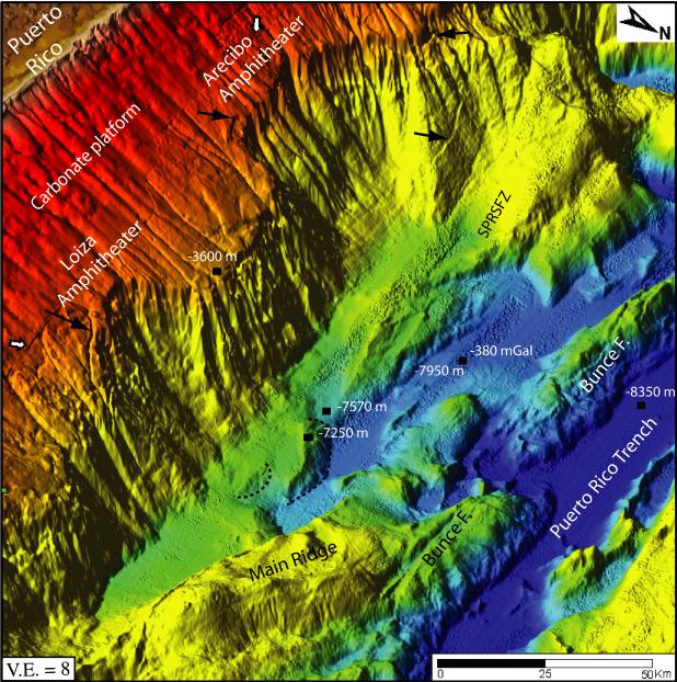 Sea floor sunday 58 northern puerto rican margin for Another word for ocean floor