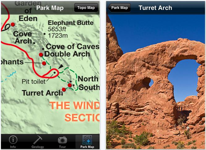 Arches National Park iPhone App | Clastic Detritus
