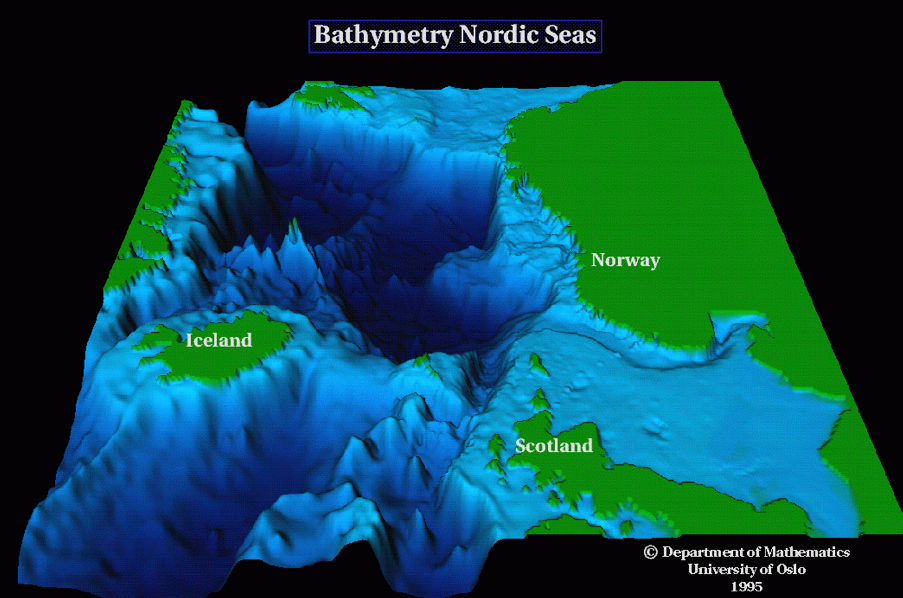 how to read a bathymetric map